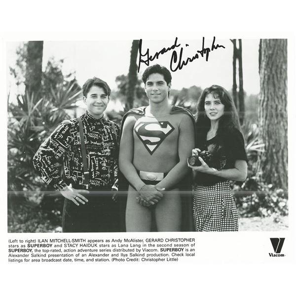 Superboy Gerard Christopher signed photo