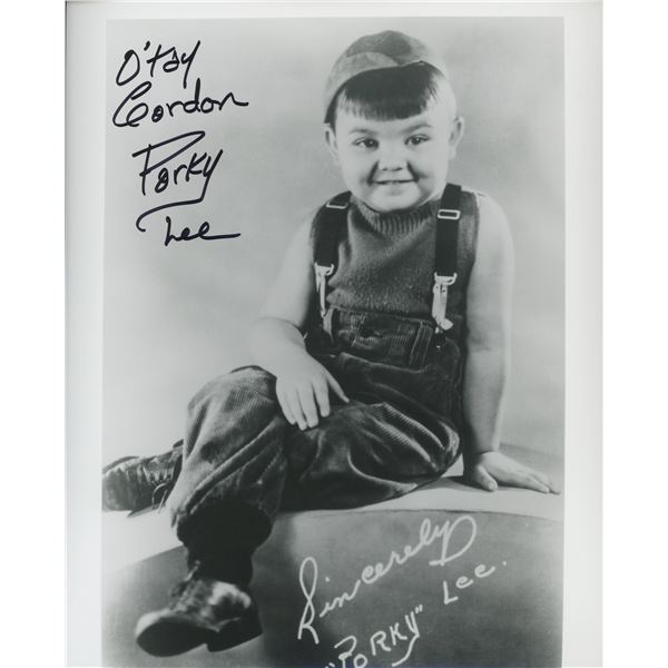 "Our Gang signed Gordon ""Porky"" Lee photo"
