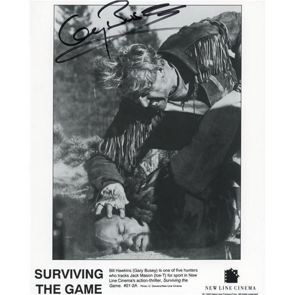 Gary Busey signed movie still