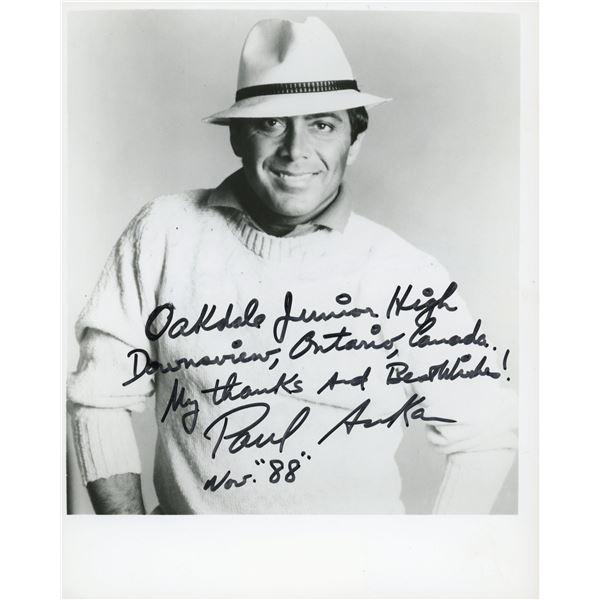 Paul Anka signed photo