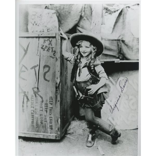 Virginia Davis signed movie photo
