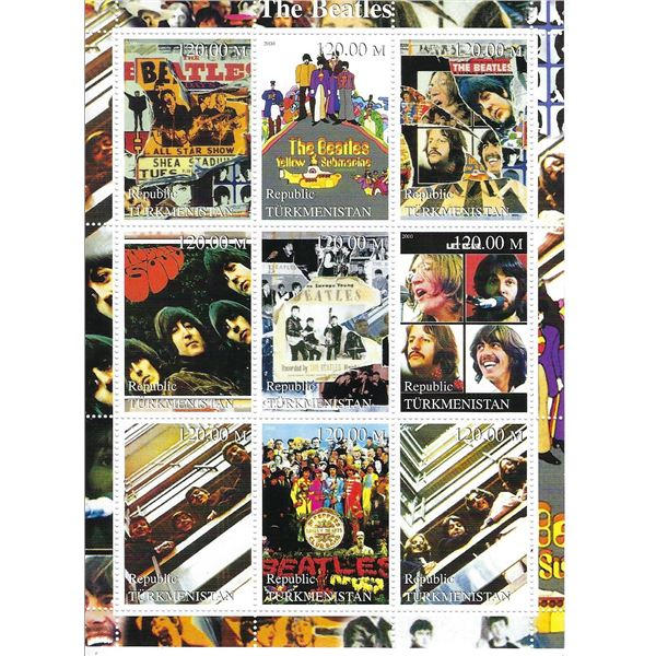 The Beatles - Commemorative Cinderella Stamp Set