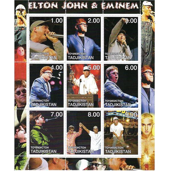 Elton John - Tadjikistan - Cinderella Stamp Set