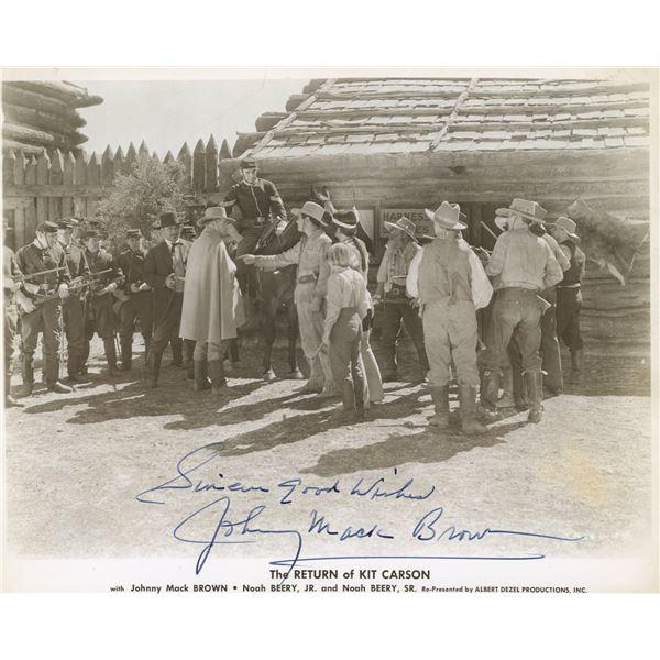 Johnny Mack Brown signed Kit Carson movie still
