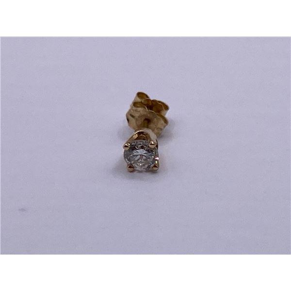 14K EARRING  WITH DIAMOND, (ONE EARRING)