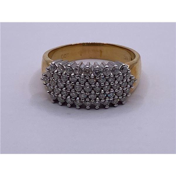 14K RING WITH DIAMONDS