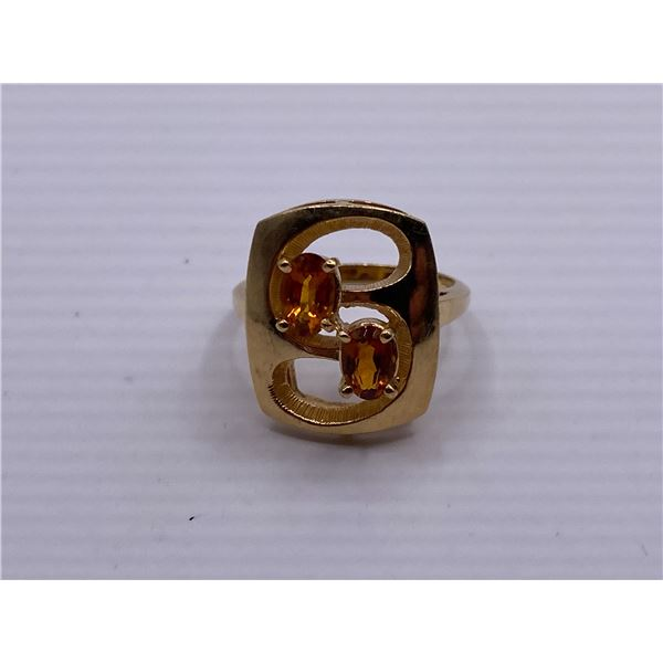 14K RING WITH CITRINES