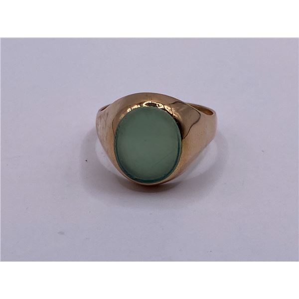 14K RING WITH AGATE