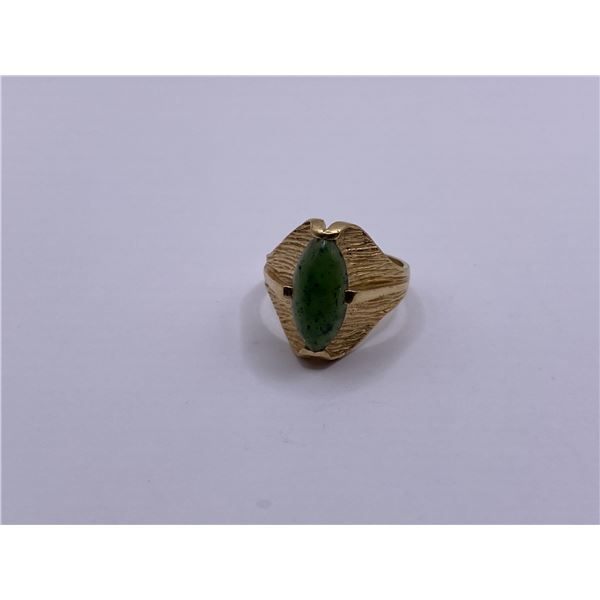 14K RING WITH JADE