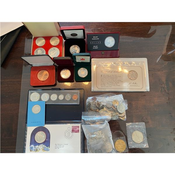 1976 OLYMPIC COIN SET, CANADA AND USA SILVER COINS, COMMEMORATIVE COINS ETC