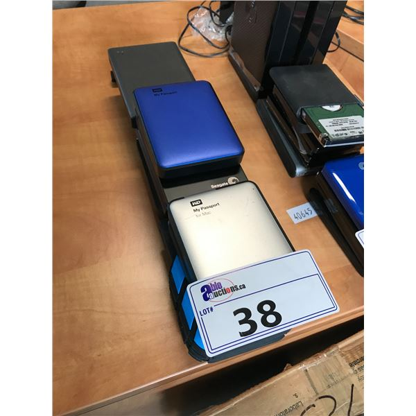 LOT OF MISC. PORTABLE HDD