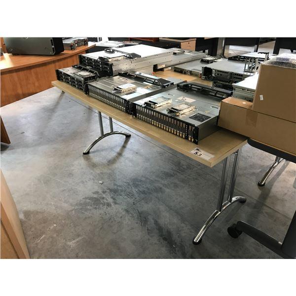 LIGHT MAPLE 5.5' X 2.5' FOLDING TABLE