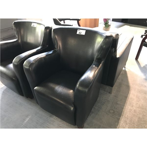 BLACK TRANSITIONAL LOUNGE CHAIR