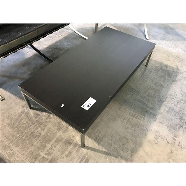 BLACK 4' RECEPTION TABLE