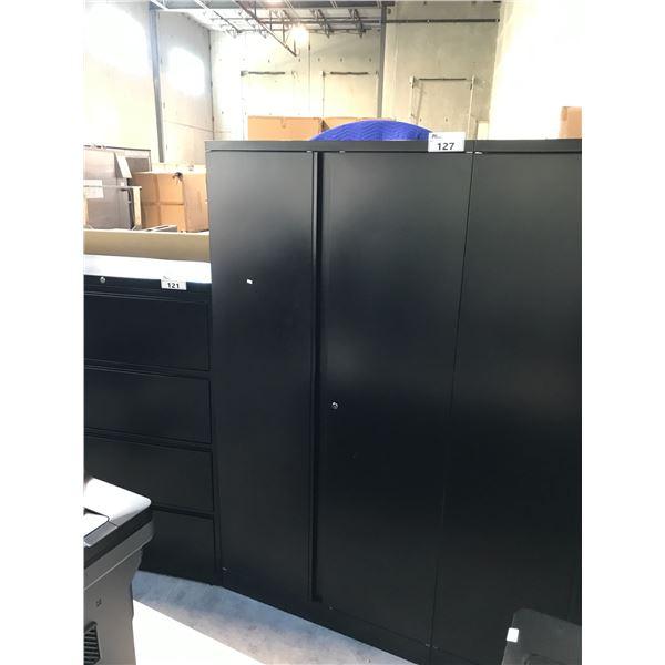 BLACK 6' DOUBLE DOOR STORAGE CABINET