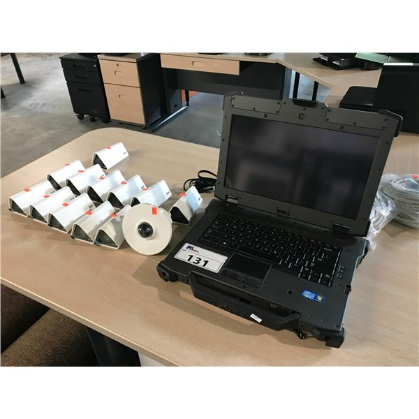 13 PELCO CCTV CAMERAS AND DELL TOUGHBOOK I5 NOTEBOOK COMPUTER