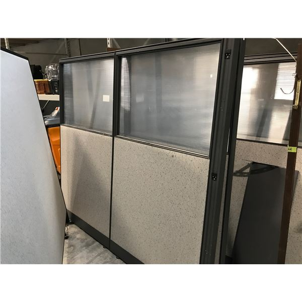7 GREY OFFICE PARTITIONS