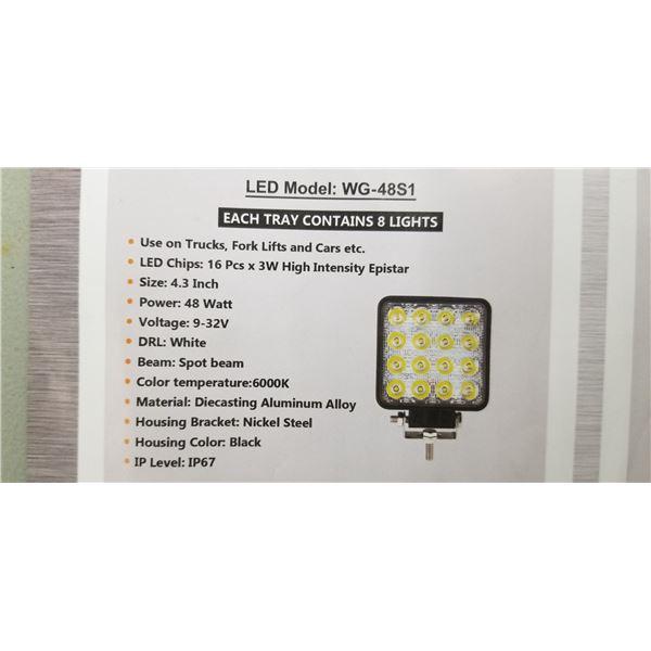 2 NEW WG 4851 LED LIGHTS 48 WATT WITH MOUNTING BRACKET