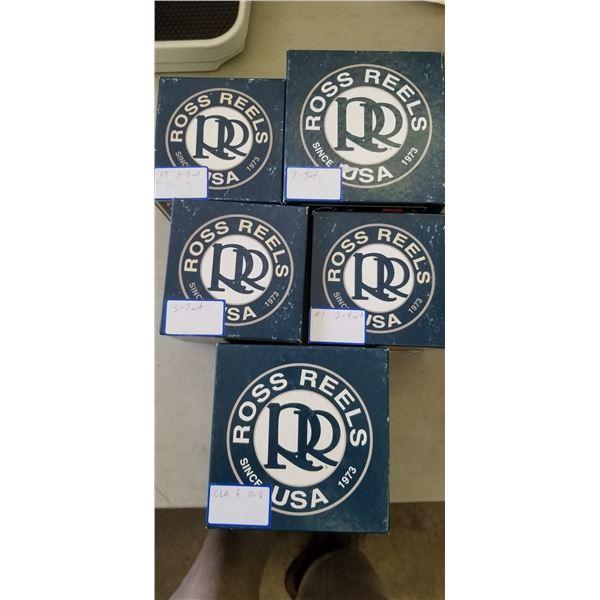 5 ROSS REELS APRE SPOOLS QUANTITY OF 5 RETAIL VALUE $440.00