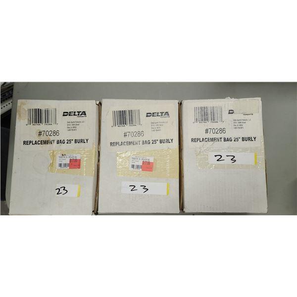 "DELTA TARGETS DEADSTOP REPLACEMENT BAG 25"" RETAIL VALUE $18.00 X3"