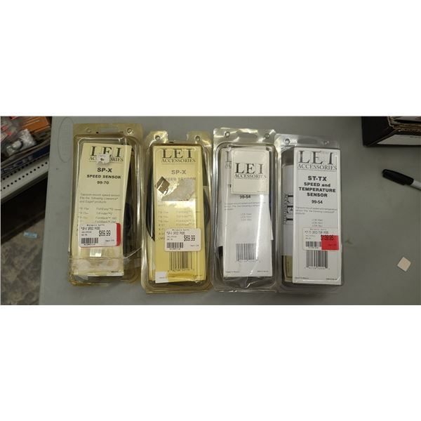 LEE ACCESSORIES ST-TX SPEED AND TEMP SENSOR 99-54 QTY 2 AND SPEED SENSOR SP-X QTY X 2 RETAIL VALUE $