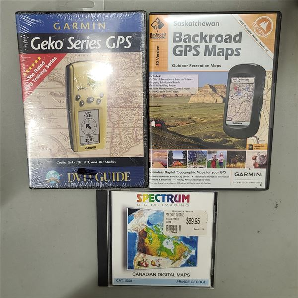 BACK ROAD GPS MAPS / GARMIN GPS / SPECTRUM CANADIAN DIGITAL MAPS