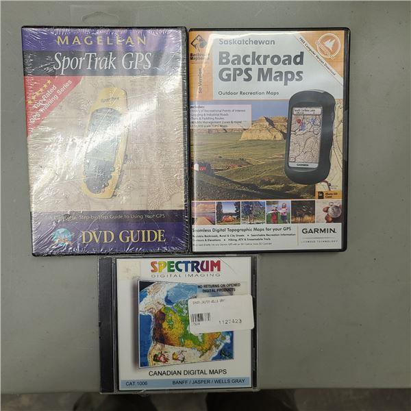 BACK ROAD GPS MAPS / GARMIN SPORT TRACK GPS / SPECTRUM CANADIAN DIGITAL MAPS