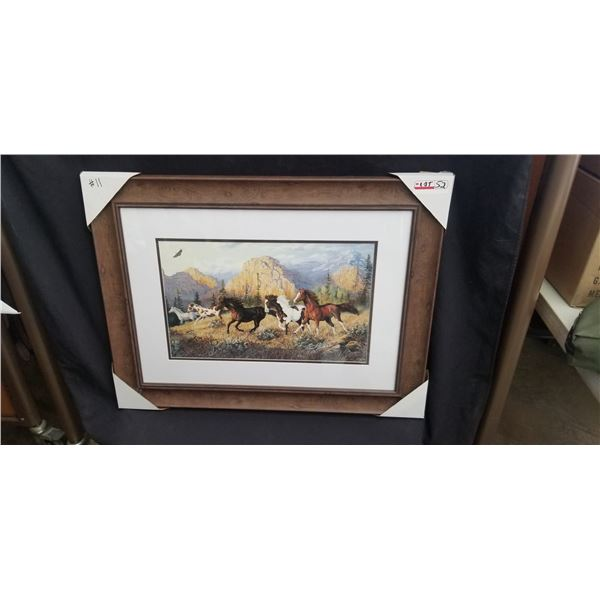 """FRAMED WILD HORSE PRINT 33""""W X 30""""H BY DOUGHTY"""