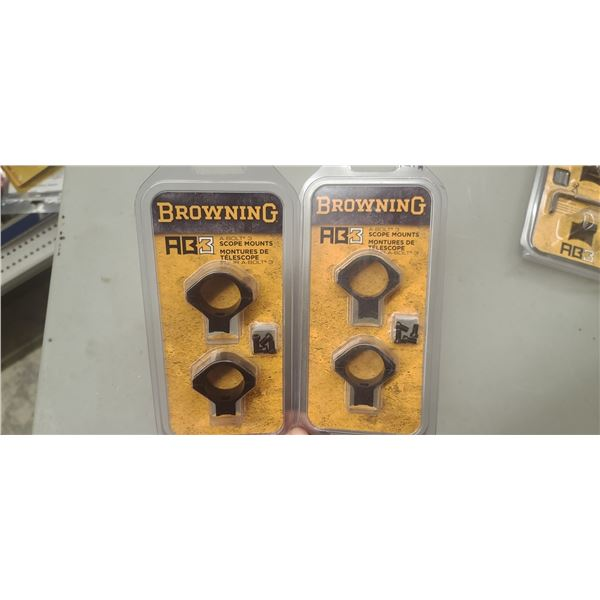 BROWNING AB-3 SCOPE MOUNTS MATTE STD 12311 QTY 1, PLUS MATTE INT 12312 RETAILL VALUE $166
