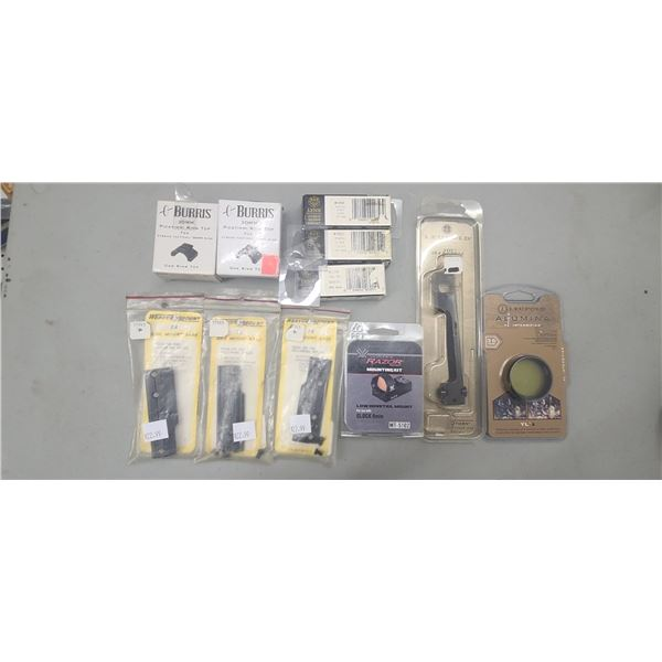 MISC. BASES: LYNX, BURRIS PICATINI RINGTOP, LEUPOLD STD RH-CA AND WEAVER SIDE MOUNT 3A. RETAIL VALUE