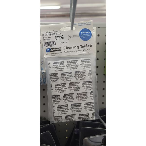 NALGENE CLEANING TABLETS FOR HYDRATION SYSTEM QTY 17 RETAIL VALUE $221