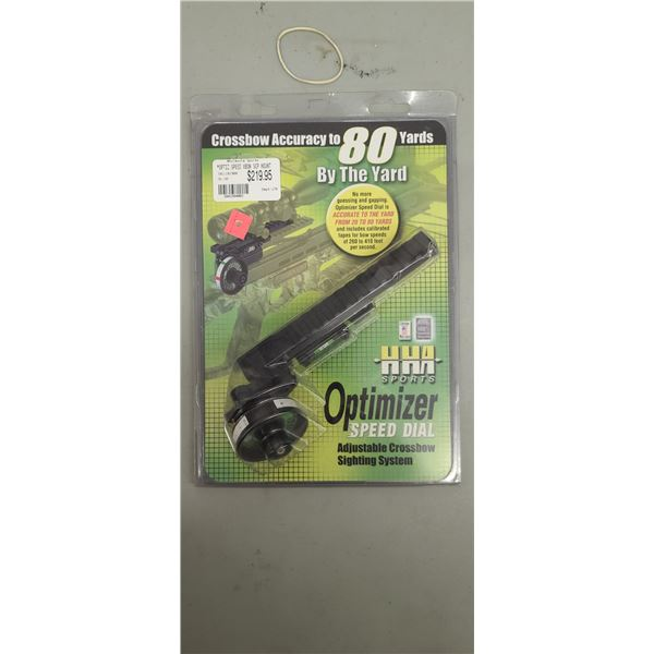 HHA SPORTS OPTIMIZER SPEED DIAL-ADJASENT CROSSBOW SIGHTING SYSTEM $218