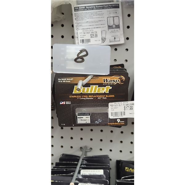 WASP BULLET REPLACEMENT BLADE QUANTITY OF 8 RETAIL VALUE $18 $144