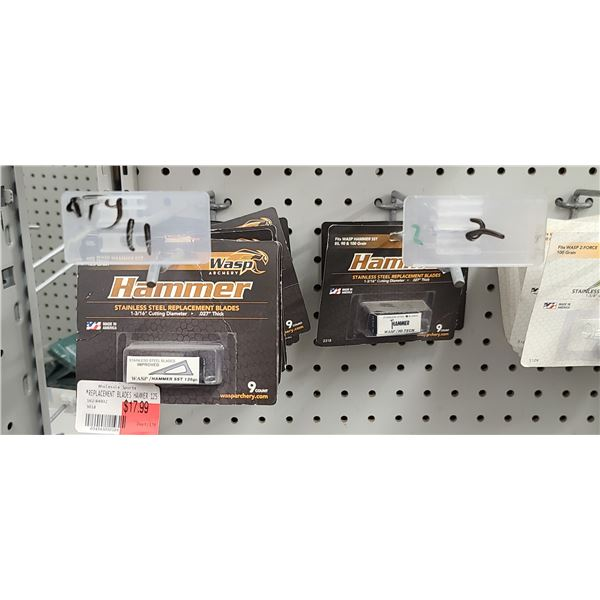 WASP REPLACEMENT BLADES QUANTITY OF 13 RETAIL VALUE $18 < $234