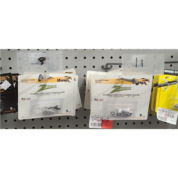 WASP Z FORCE .027 THICK REPLACEMENT BLADES QUANTITY OF 18 RETAIL VALUE $18 < $324