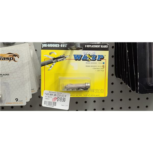 WASP JAK-HAMMER-SST .037 THICK  QUANTITY OF 8 RETAIL VALUE $19 < $152