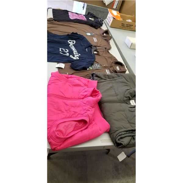 VARIOUS SIZES MISC. CLOTHING (SM, MED, LRG, XL)