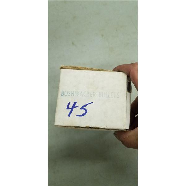 BUSHWAKER BULLET QTY X 1 BOX OF .45 CAL LEAD BULLETS