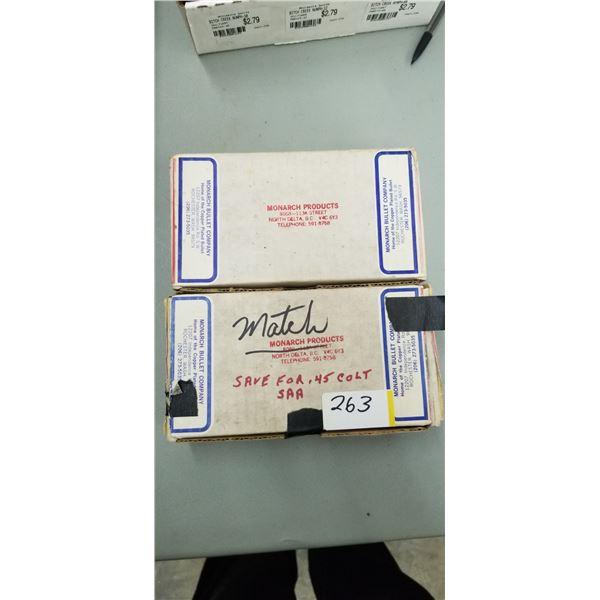MONARCH BULLETS APPROX 350 +/- .45 CAL 225 GRAIN LEAD BULLETS