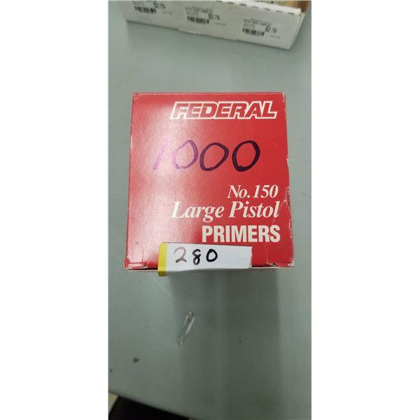 1000 FEDERAL #150 LARGE PISTOL PRIMERS