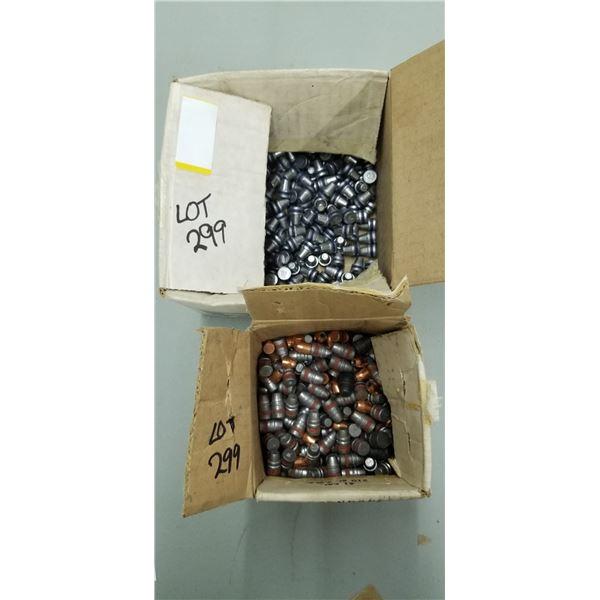 2 PARTIAL BOX OF .45 CAL 180 GRAIN AND .41CAL, 210 GRAIN SWC BULLETS