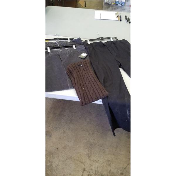 WOMEN'S CLOTHING SKIRT 12, 14, PANTS 16, SCARF