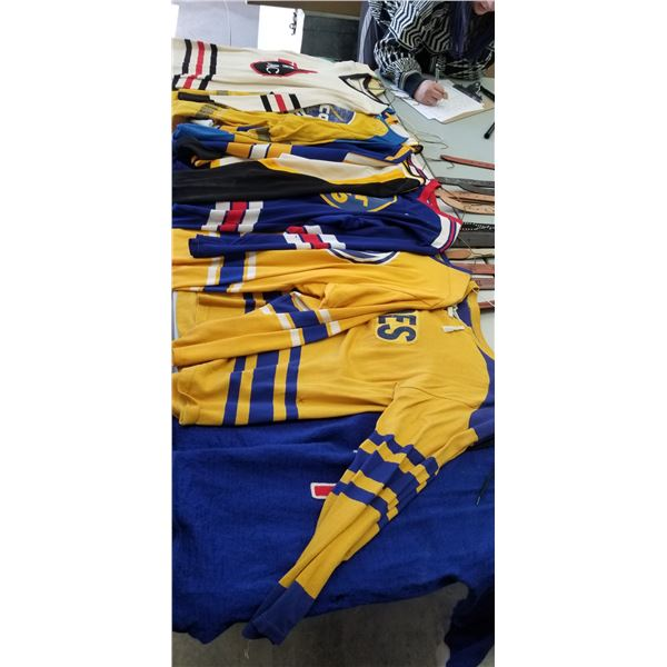 ASSORTED OLD HOCKEY JERSEY'S QTY X 9