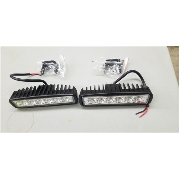 2 NEW WG 4851 LED LIGHTS 48 WATTS WITH MOUNTING BRACKET QUANTITY OF 2