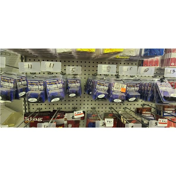 BOHNING CROSSBOW NOCKS .303 AND .2985 IN FLAT END AND HALF MOON, 12 PACK QUANTITY OF 65 RETAIL VALUE