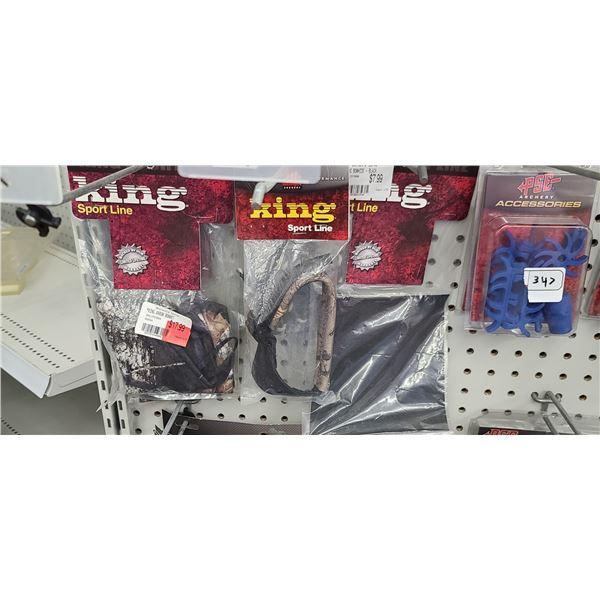 PSE KING SPORTLINE ARROW BONNET X2, SLING FLEX FOAM, BRAIDED SLING X3, BLACK BOW HIDE RETAIL VALUE $