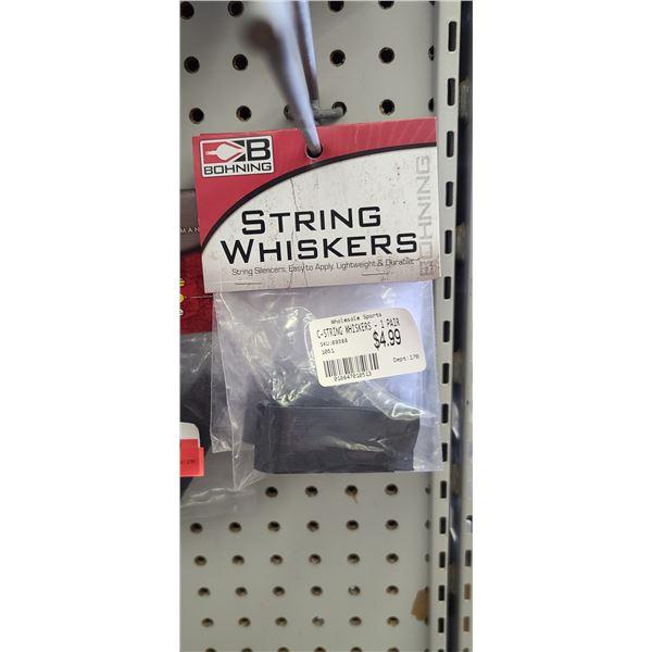 PSE KING NYLON SLING BLACK X3, BOHNING STRING WHISKERS X4 RETAIL VALUE $40.40