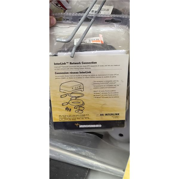 HUMMINBIRD INTERLINK NETWORK CONNECTION QUANTITY OF 2 RETAIL VALUE $450