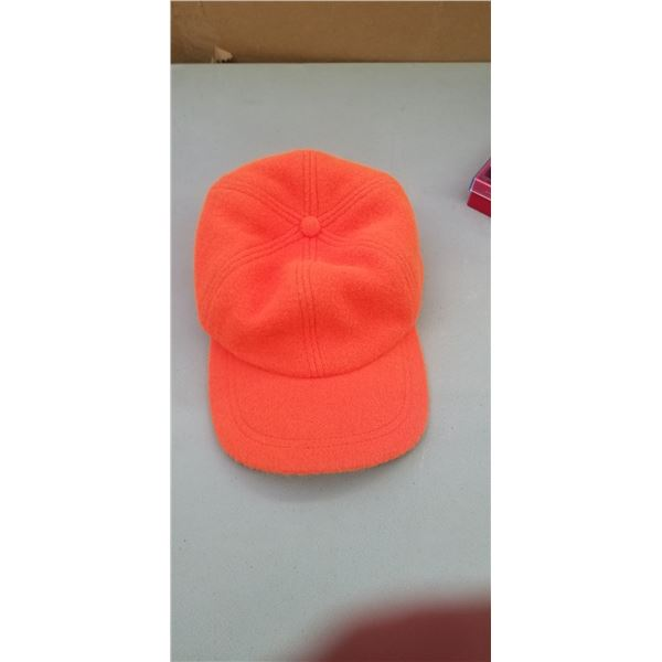 INSULATED HUNTING HAT ORANGE BY CROWNCAP RETAIL VALUE $40.00