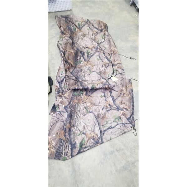 BIG BUDDY BLIND COVER AND MISC BAG WITH POLES (NOT RELATED)